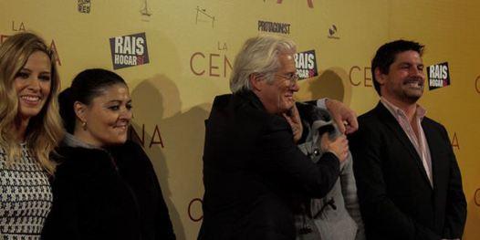 Richard Gere y Alejandra Silva en el estreno de La Cena