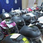 Se recuperan 35 cascos de motocicleta robados en la capital