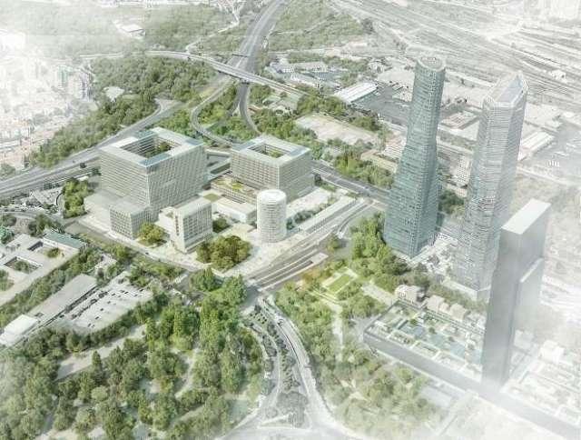nuevo hospital la paz vista aérea