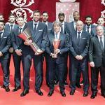 El Real Madrid de baloncesto celebra su Copa de Europa