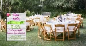photocall boda aire libre