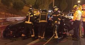 Accidente Kamikaze M-30 Bomberos Comunidad de Madrid