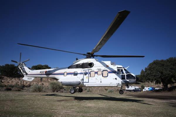 helicóptero en exhumación franco valle caídos