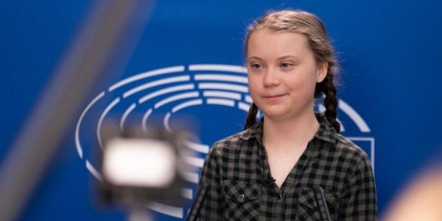 Greta en el Parlamento Europeo