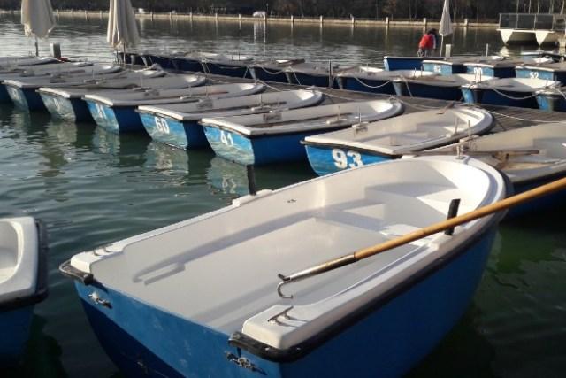 Barcas en el estanque de El Retiro