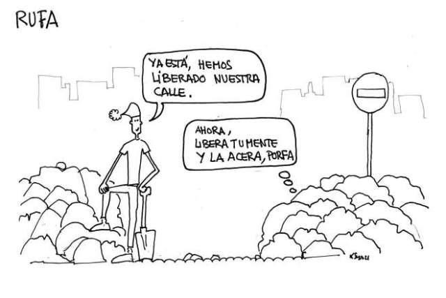 La gran nevada tira cómica