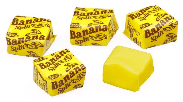 caramelos de banana split