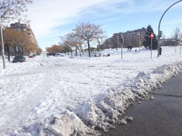 nieve en madrid acumulada