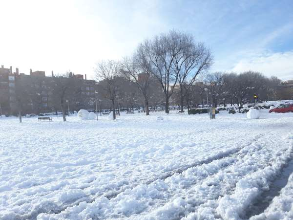nieve en madrid parque