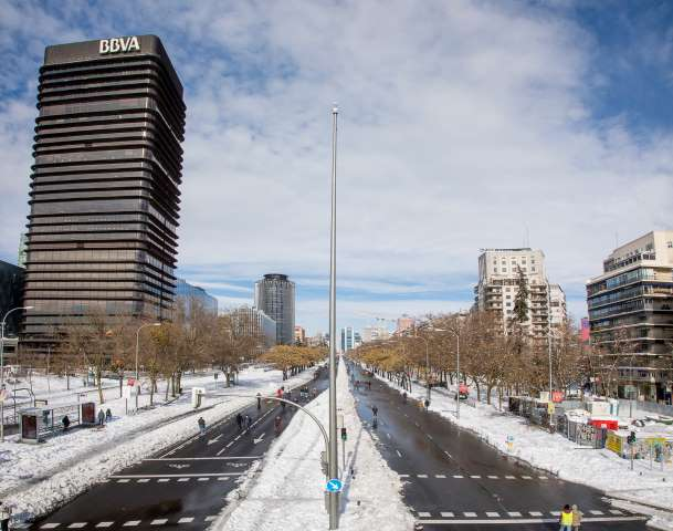 temporal nieve filomena daños madrid castellana limpia