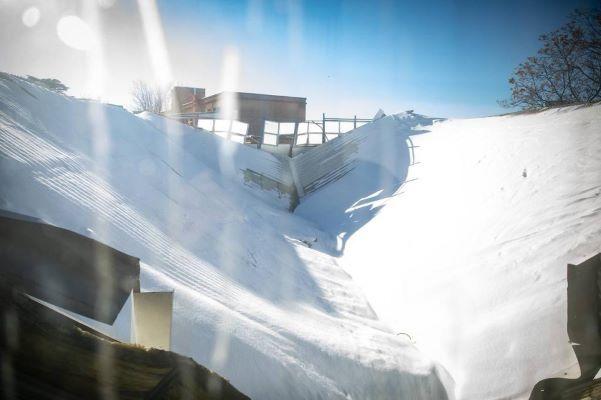 ramiro maeztu pabellón deportivo la nevera reconstrucción nieve