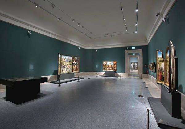 Sala de El Bosco. Museo del Prado.