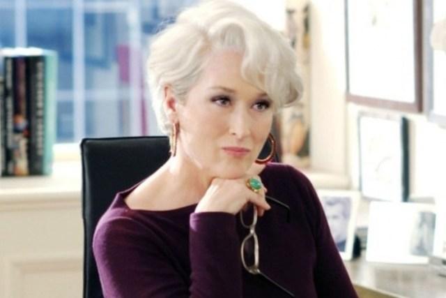 Meryl Streep con cabello gris
