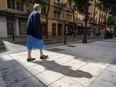 Peatonalización aceras Madrid