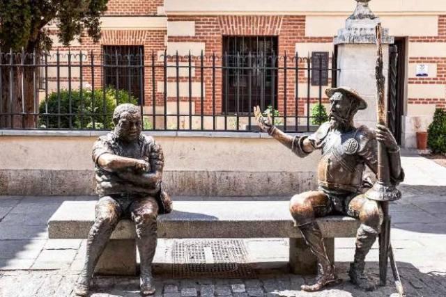 Quijote y Sancho Alcalá de Henares