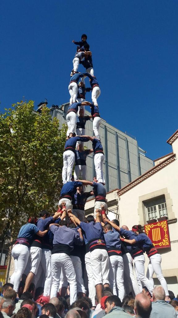 3 de 9 amb folre dels Capgrossos de Mataró / Foto: Twitter dels Capgrossos de Mataró