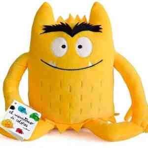 peluche monstruo de colores amarillo