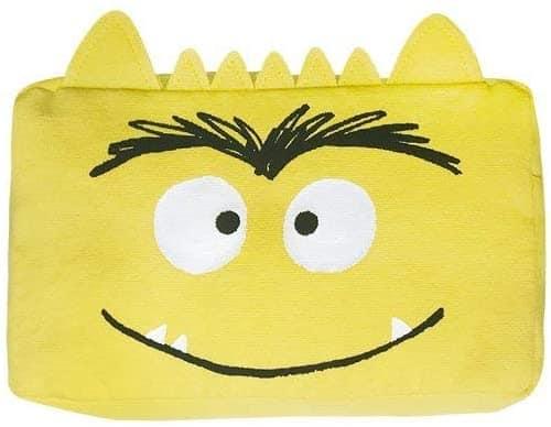 estuche del monstruo de colores amarillo