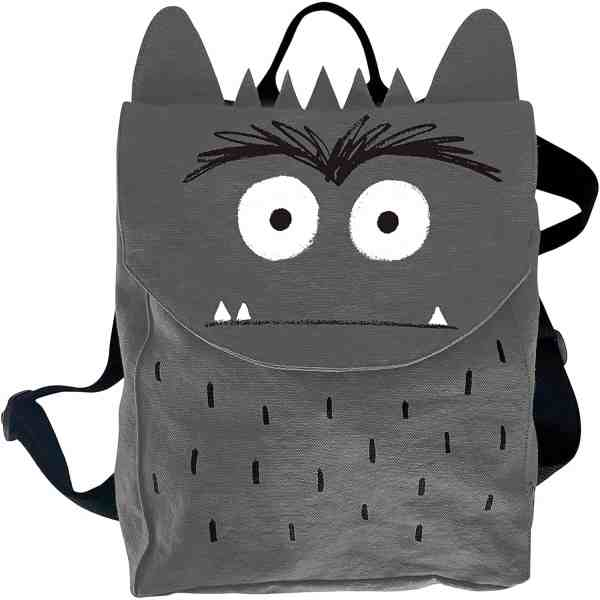 mochila del monstruo de colores negro