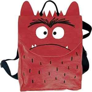 mochila del monstruo de colores rojo