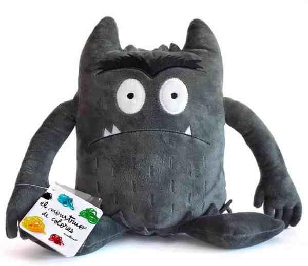 peluche del monstruo de colores negro