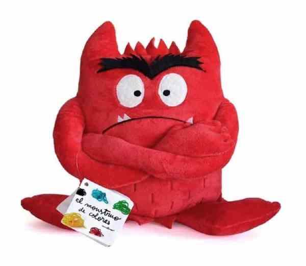 peluche del monstruo de colores rojo