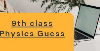 Physics Guess for 9th class Annual Examination