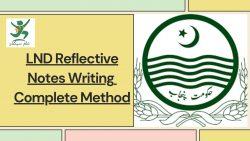 reflective notes writing