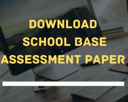 School Base Assessment Paper