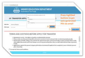 HED E-Transfer Phase-I Step by Step Application Procedure Step-3