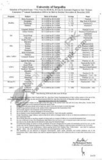 UOS Data sheet BA/BSc/B.Com/ADP 1st Annual Exam 2020 Practical Exam