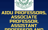 AIOU Jobs for Professors, Associate, Assistant and Lecturers