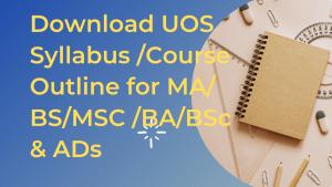 UOS Syllabus Course Outline