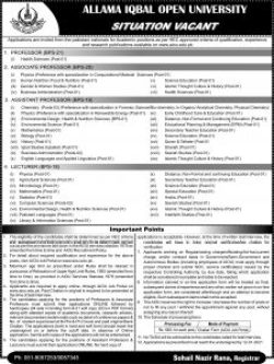 aiou jobs 2021 advertisement