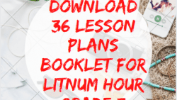 36 Lesson Plans Booklet for LitNum Hour Grade 3