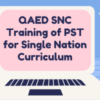 QAED SNC Training of PST for Single Nation Curriculum