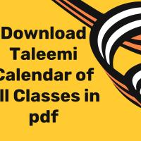 Download Taleemi Calendars