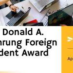 The Donald A. Wehrung Foreign Student Award