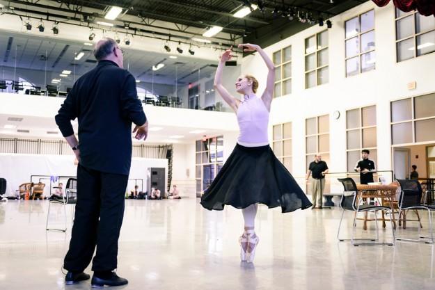 Diana Albrecht in John Cranko's Onegin; photo by Liza Voll, courtesy of Boston Ballet