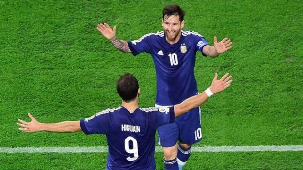 Lionel Messi ahora es el máximo goleador en la historia de la selección argentina. Foto: AFP.