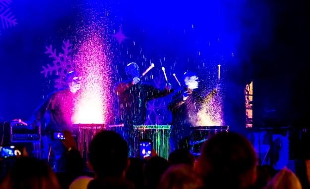 El Blue Man Group le puso color a las presentaciones. Foto: Ciro Valiente