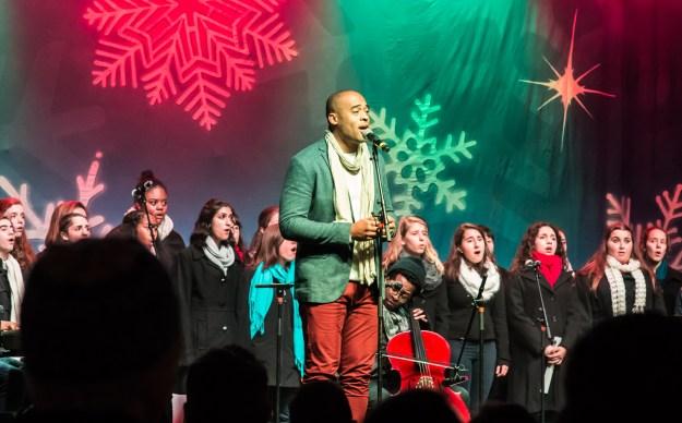 El cuarteto Sons of Serendip compartió escenario con el Boston Children's Chorus.