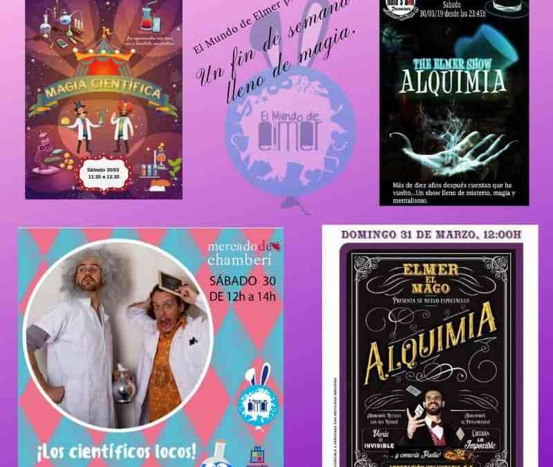 Planes para el fin de semana: Magia, mentalismo y animaciones infantiles