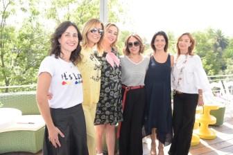 Ana Paula Villegas, Mercedes Fortes, Bárbara Albert, Raquel Orozco, Alejandra Vargas y Ana Lucía de Teresa