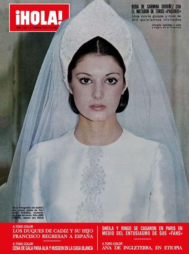 Carmiña el día de su boda con Paquirri, portada de Hola.