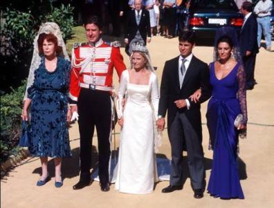 El día de la boda de Francia con Eugenia, hija de la Duquesa de Alba.