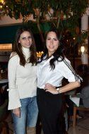 EVENTO: Cena de Accion de Gracias en el Hotel Condesa DF, Roma, 22 de Noviembre de 2018, Fotos. Veronica Gardu–o Soto. Pie de Foto: Andrea Diab y Carla Santiesteban.
