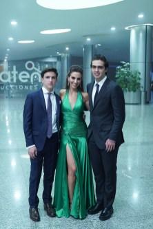 Elie Dergal, Caroline Harfouche, y Santiago Madariga