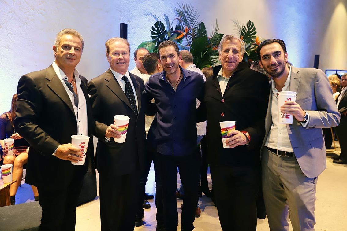 Pablo meuchi, Ricardo Henaine, Roberto Sarraf, Rmon Abraham y Farid Dergal