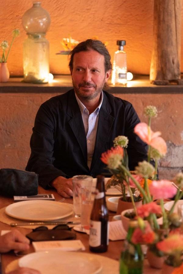 Eduardo Prieto en la comida por la inauguración de Zona Maco.